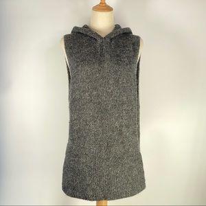 ♠️ Kate Spade Hooded Wool Sleeveless Poncho